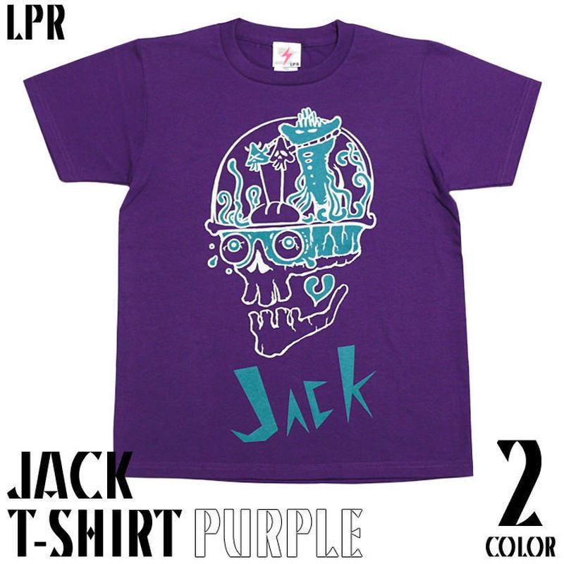 a07tee-pu - JACK ( ジャック ) Tシャツ ( パープル ) -G-( スカル ドクロ 髑髏 Skull エイリアン ロックTシャツ )