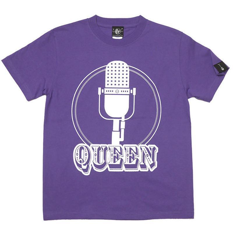 sp003tee-pu - Rock Queen Tシャツ (V.パープル)-G- 半袖 ロックT ロッククイーン ロックンロール 紫色