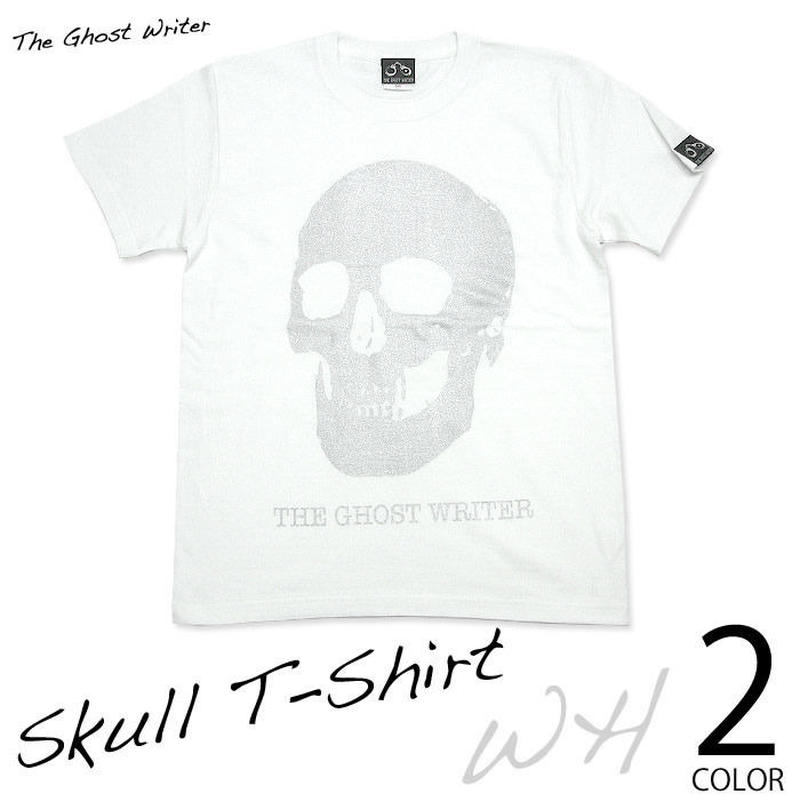 ☆特別プライス☆ tgw013tee-wh - スカル Tシャツ(ホワイト) - The Ghost Writer -G-( パンク ロックTシャツ )