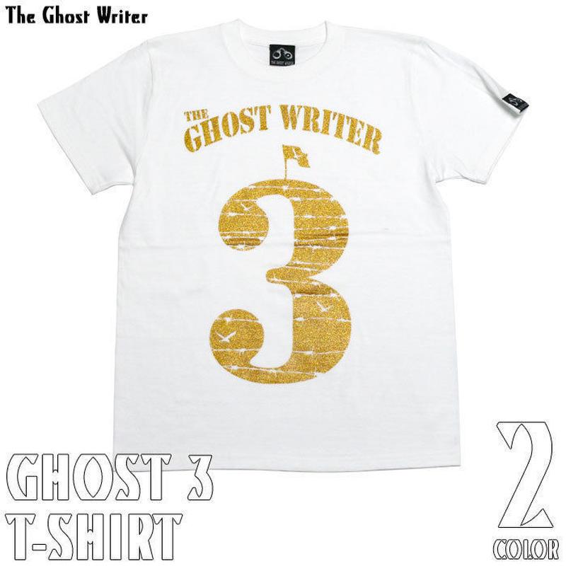 tgw015tee - GHOST 3 Tシャツ (ホワイト) - The Ghost Writer -G-( パンク ロックTシャツ ロゴTシャツ 有刺鉄線 )