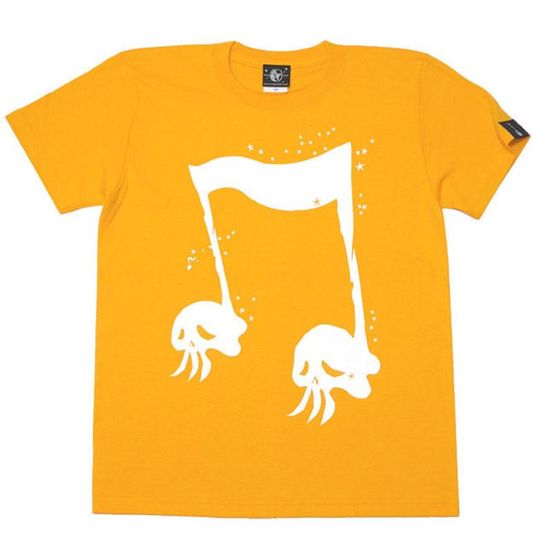 sp039tee - スカルオンプ2 Tシャツ -G- 半袖 ドクロ ロックTシャツ オリジナル オレンジ イエロー 黄色