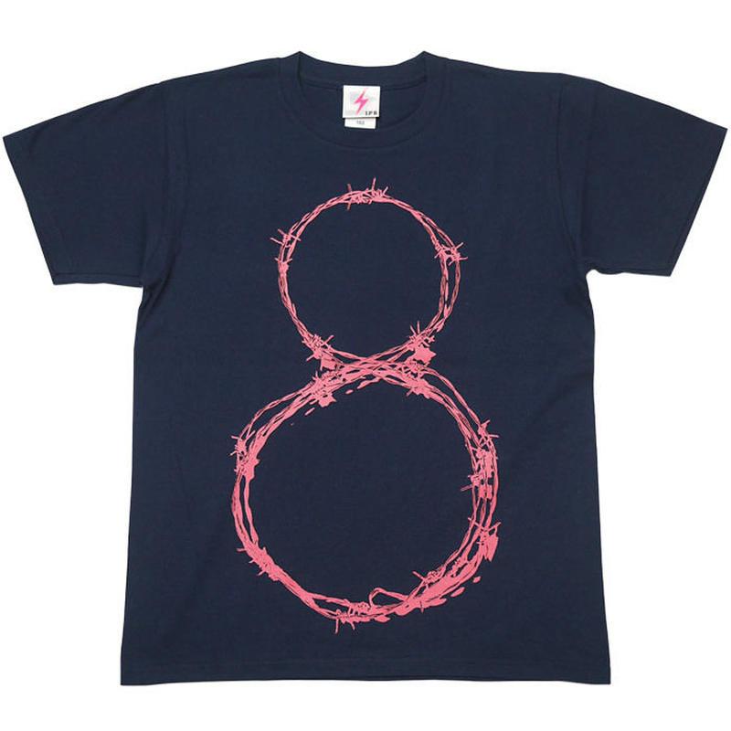 a10tee-mbu - L8P Tシャツ (メトロブルー)-G- 半袖 グラフィック パンクロックTシャツ ストリート ネイビー 青紺色