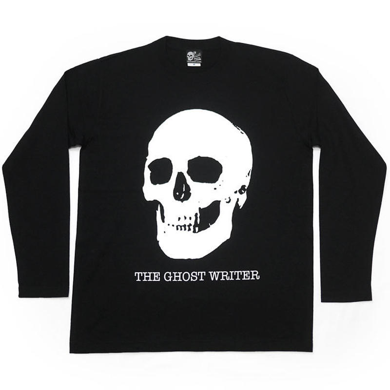 tgw013lt - スカル ロングスリーブTシャツ -G- 長袖 ロンT 骸骨 ガイコツ ドクロ柄 ロック ブラック 黒