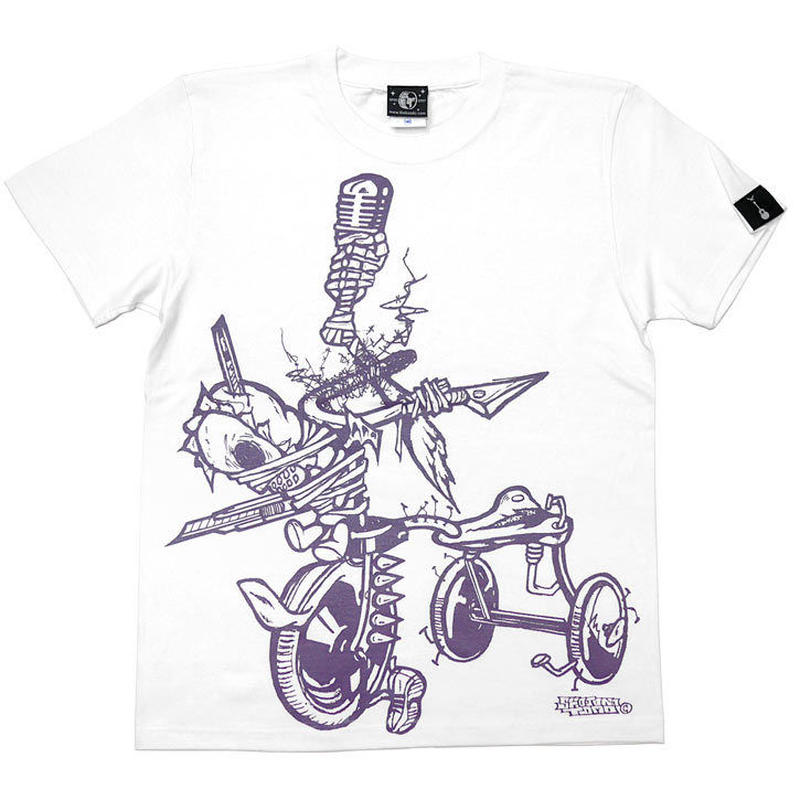 pi003tee-wh - チャイルドウエポン(サンリンシャ)Tシャツ (ホワイト)pornoinvarders -G- 半袖 白色 スカル パンクロック ハードコア