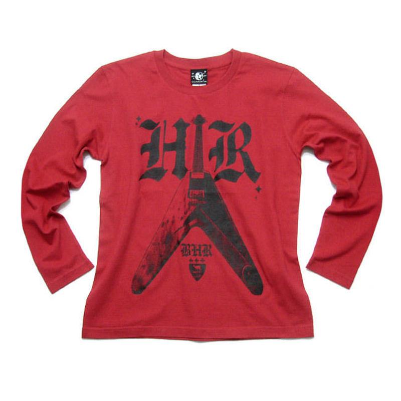 12daysセール! sp007lt - Bambi Hard Rock ロングスリーブTシャツ -G- ロンT 長袖 ハードロック ギター ロック バンド