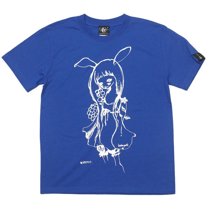 2週間セール!! bg021tee-rb - バニー Tシャツ (ロイヤルブルー)-G- 半袖 イラスト うさみみ 女の子 コラボTシャツ 青色