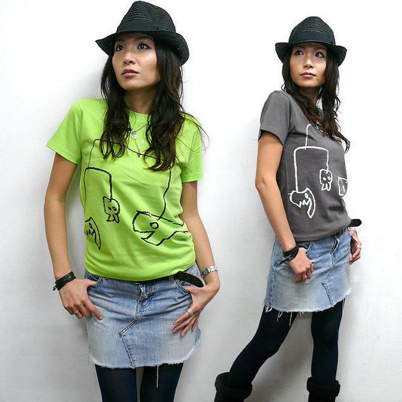 sp060tee - モビモビ Tシャツ - BPGT -G-  POP 落書き クレヨン ポップ イラスト オリジナル
