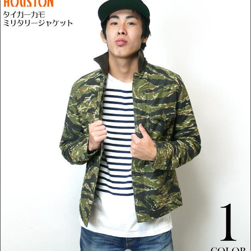 ut51322w - タイガーカモ ミリタリージャケット - HOUSTON -G-( アメカジ アウター 中綿 迷彩柄 カモフラージュ )