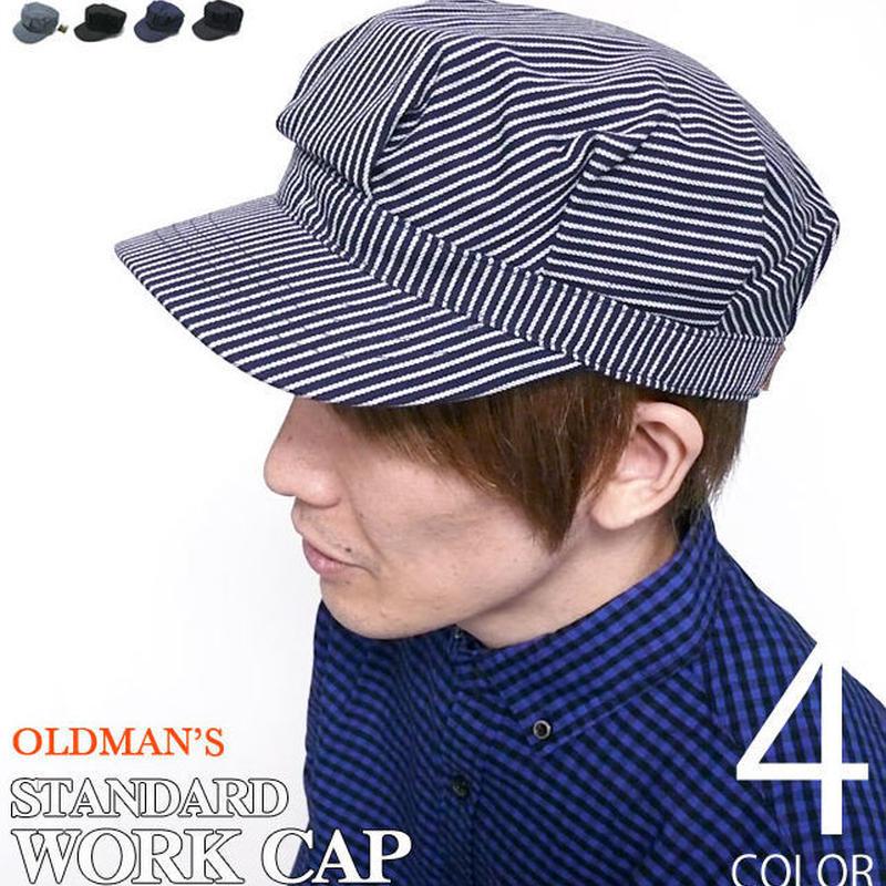 old-003 - スタンダード ワークキャップ【 OLDMAN'S オールドマンズ 】-G-( WORK CAP アメカジ 帽子 ヒッコリー ダック デニム )