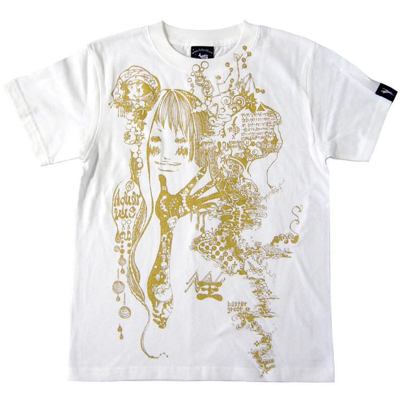 夏セール!! bg010tee - 水瓶座ガール (Aquarius Girl) Tシャツ -G- メンズ レディース 半袖 みずがめ 星座 イラスト 綺麗 かわいい ホワイト 白色 春夏秋
