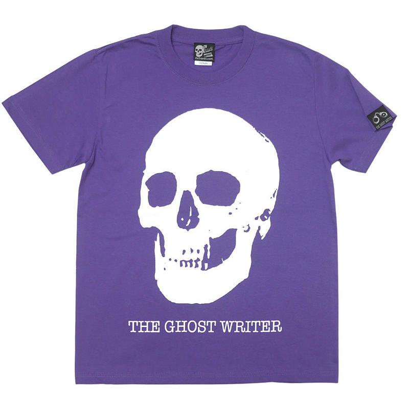 ☆特別プライス☆ tgw013tee-pu - スカル Tシャツ ( V.パープル )-The Ghost Writer-G- 半袖 黒 ドクロ パンクロックTシャツ 紫色