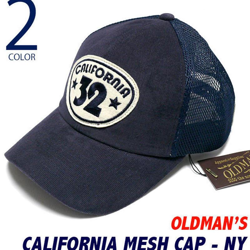 old-1442-ny - カリフォルニア メッシュキャップ(ネイビー)【 OLDMAN'S オールドマンズ 】-G-( CALIFORNIA CAP アメカジ 帽子 スナップバック )