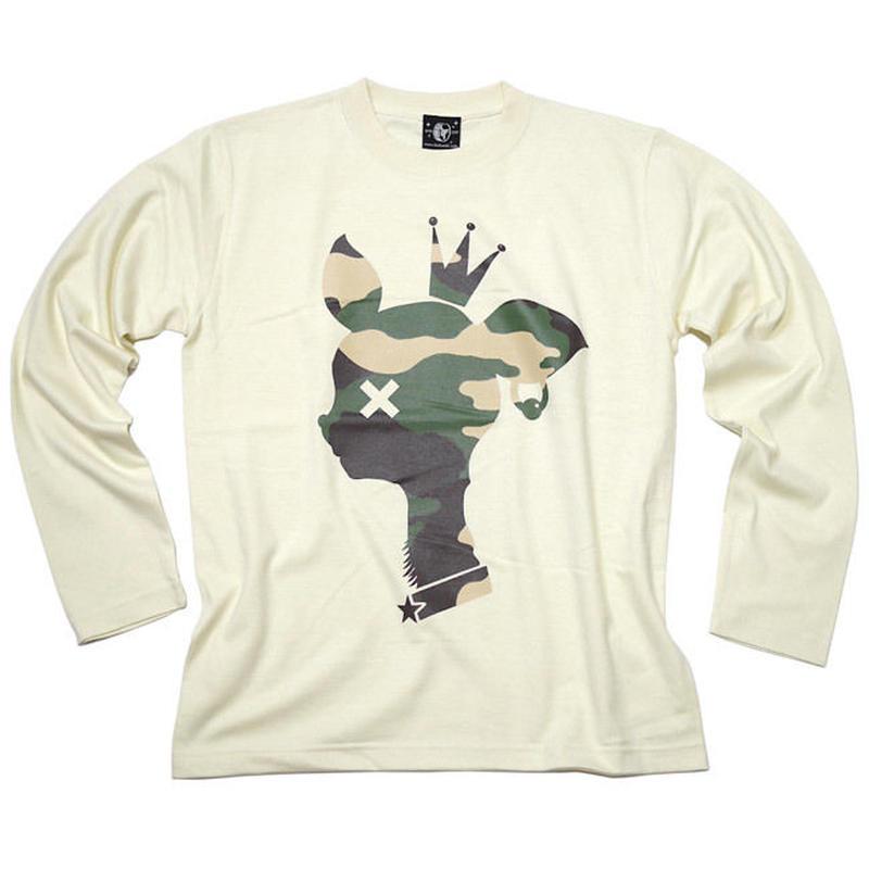 12daysセール! sp088lt - 迷彩 バンビ ロングスリーブTシャツ -BPGT-G- かわいい bambi こじか ロンT 長袖 メンズ レディース カットソー
