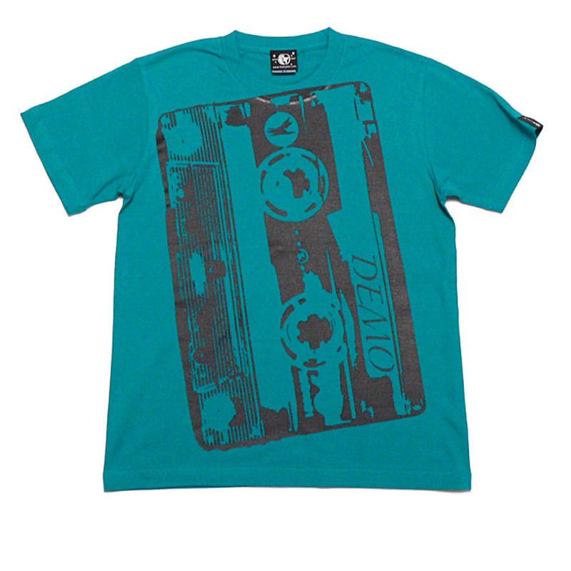 2週間セール!! bk001tee - Demo Tape(デモテープ)Tシャツ (A.グリーン) - BPGT -G-