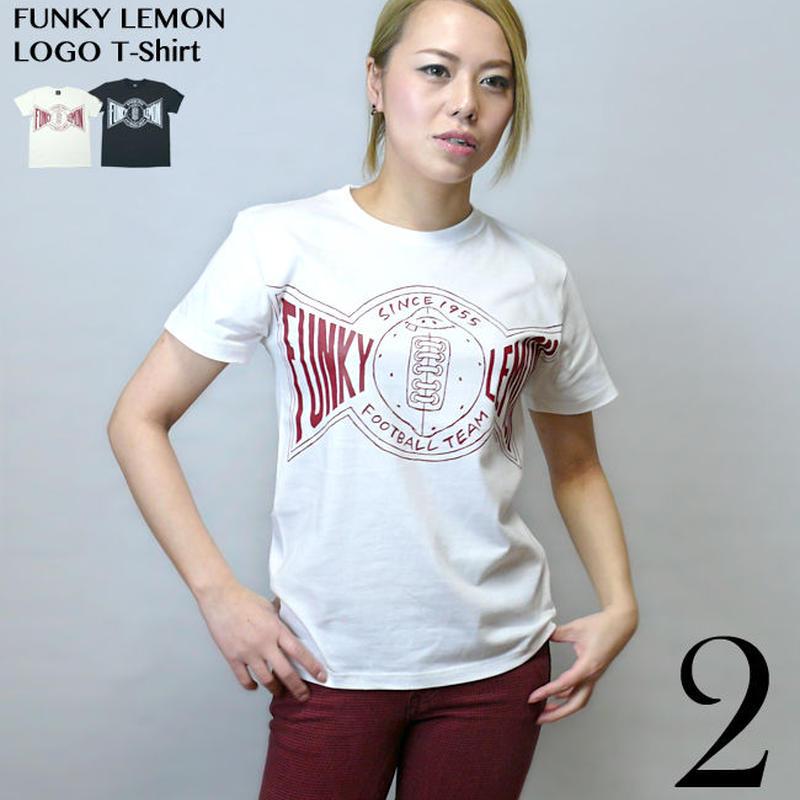 har018tee - ファンキーレモンロゴ Tシャツ - HARIKEN ハリケン -G- アメカジ カレッジプリント キャラクター コラボTシャツ 半袖