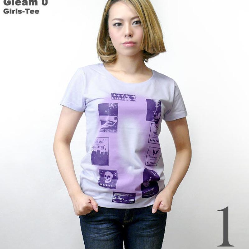 tgw023gu - Gleam 0(ゼロ) ガールズ UネックTシャツ - The Ghost Writer -G- グラフィック ガーリー ストリート 半袖