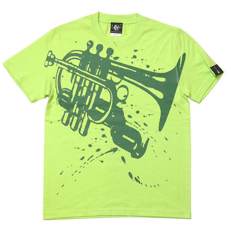 hw003tee-lm - Funk Jazz Tシャツ (ライムグリーン)-G- ジャズ ブルース ファンク スウィング 音楽 半袖