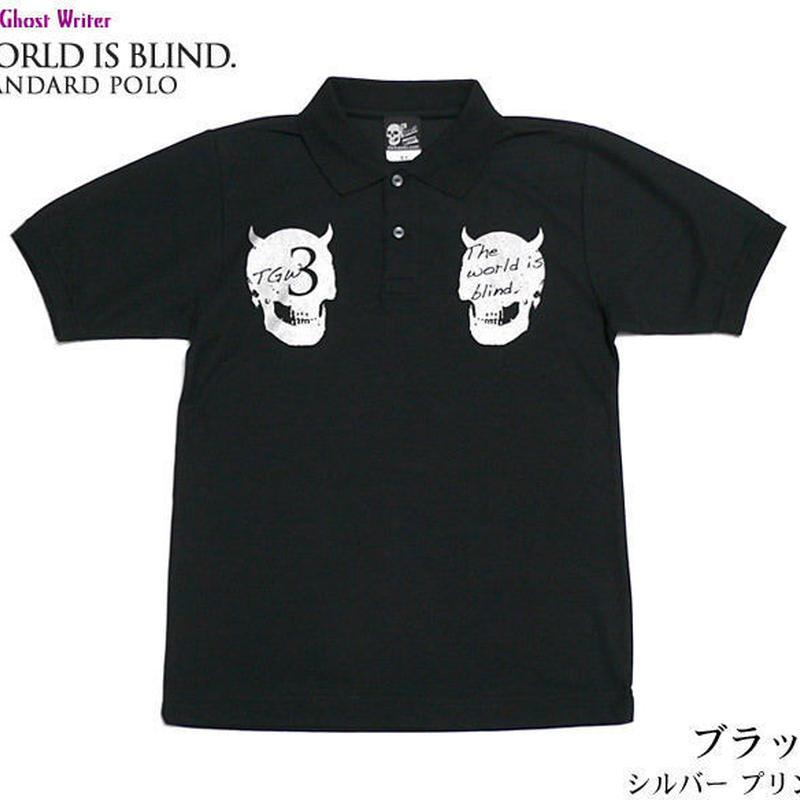 tgw039spo - World is blind. スタンダード ポロシャツ -G-  Polo スカル ドクロ パンク ロック 半袖
