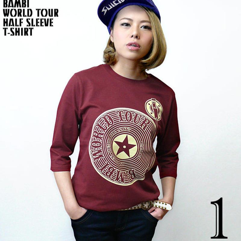 sp004hst - Bambi World Tour ハーフスリーブ Tシャツ - BPGT -G-( ロックTシャツ ライブ フェス レコード バンドT 5分袖 )