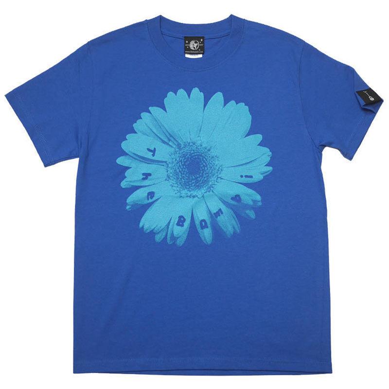 sp070tee-rb - Bambi Flower Tシャツ (ロイヤルブルー)-G- フラワー 花柄 フォト 写真 青色 半袖