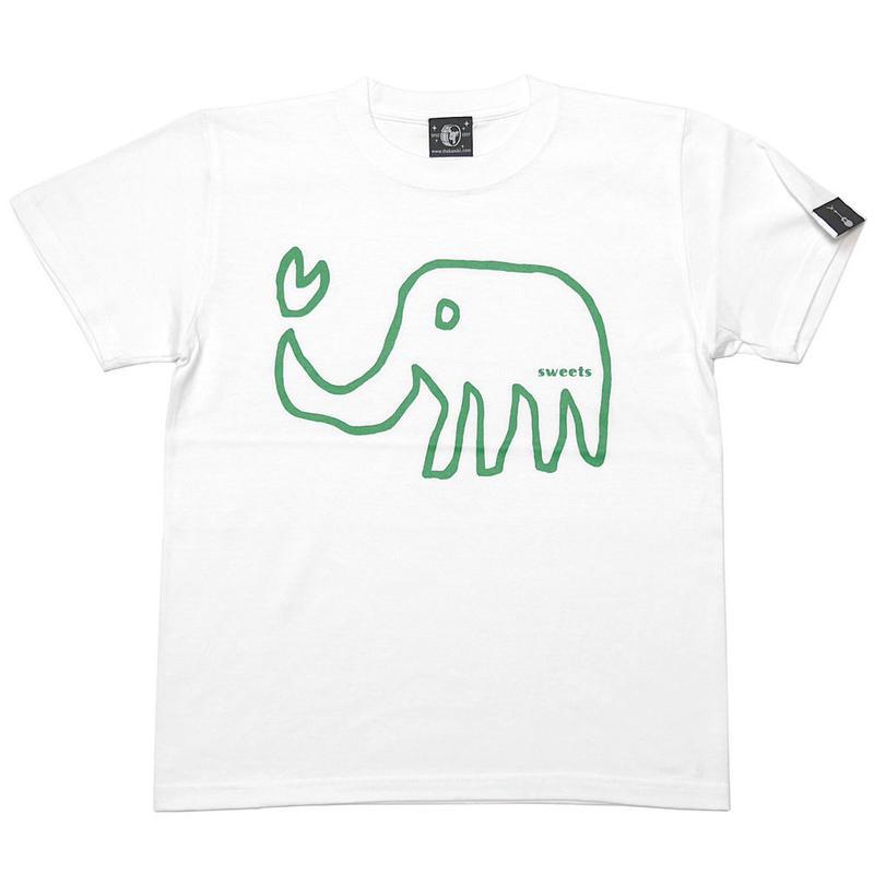 予約販売中! sp018tee-wh - ゾウさん Tシャツ (ホワイト)-G- 白色 ぞう アニマル 落書き イラスト 可愛い 半袖 綿100%