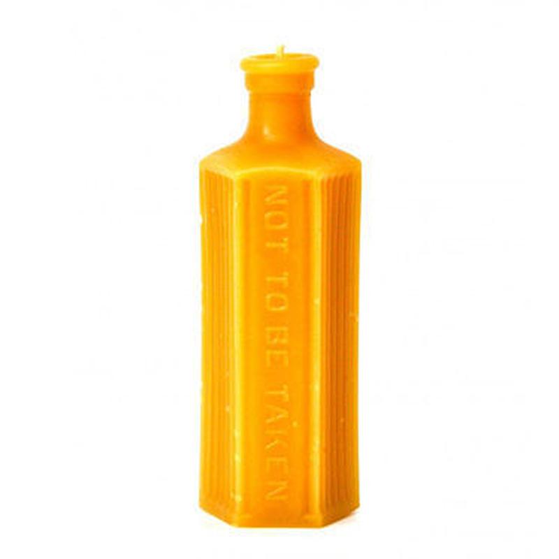 【SALE】薬瓶から型をとった蜜蝋キャンドル [ピラー]