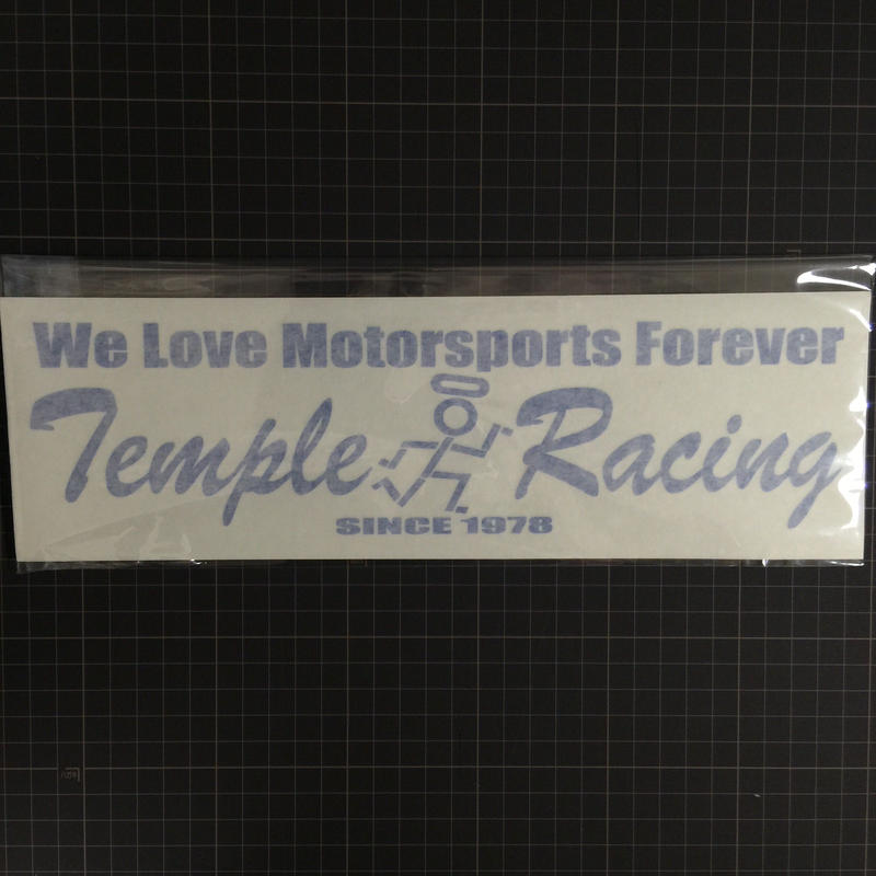 TEMPLE切り抜きステッカー   We Love Motersports Forever