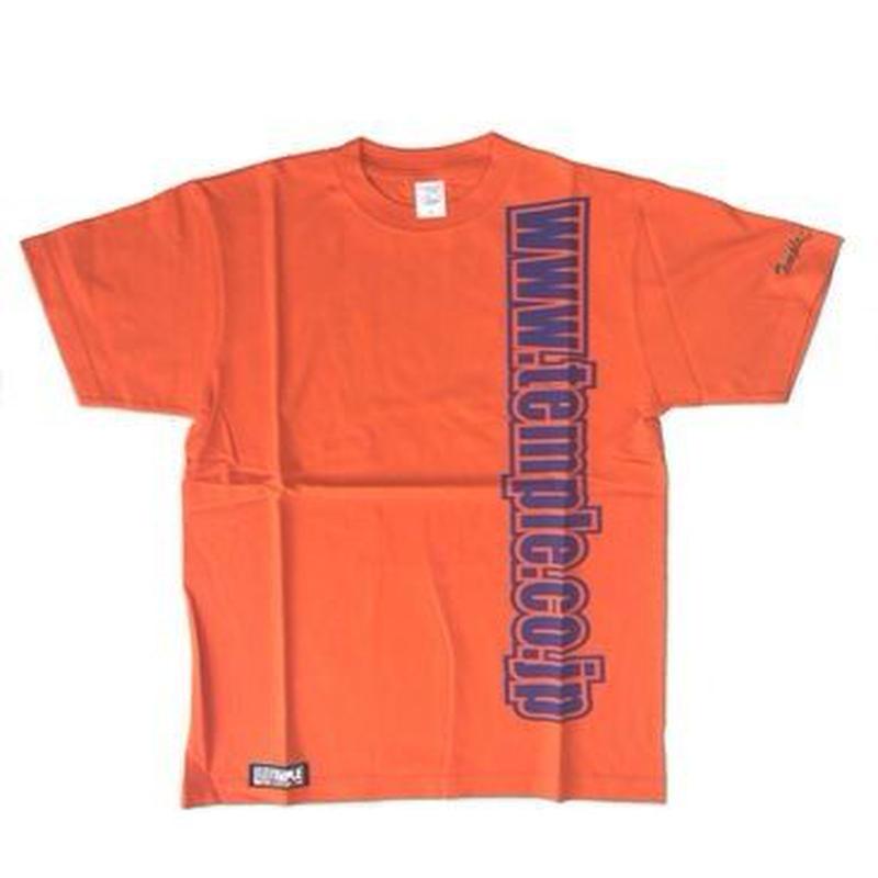 temple デザインTシャツ オレンジ Sサイズ