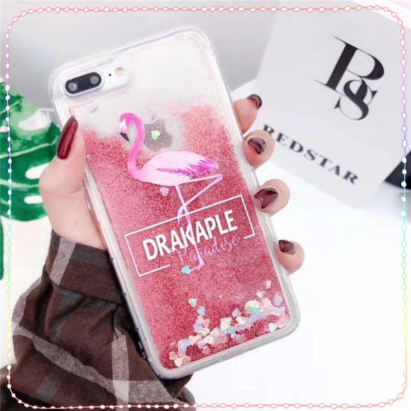 フラミンゴ 柄 iphone X XS XR ケース グリッター ピンク