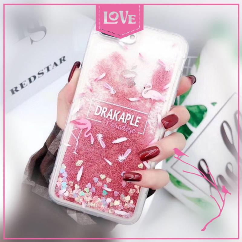 フラミンゴ 羽 柄 iPhone X XS XR ケース グリッター ピンク