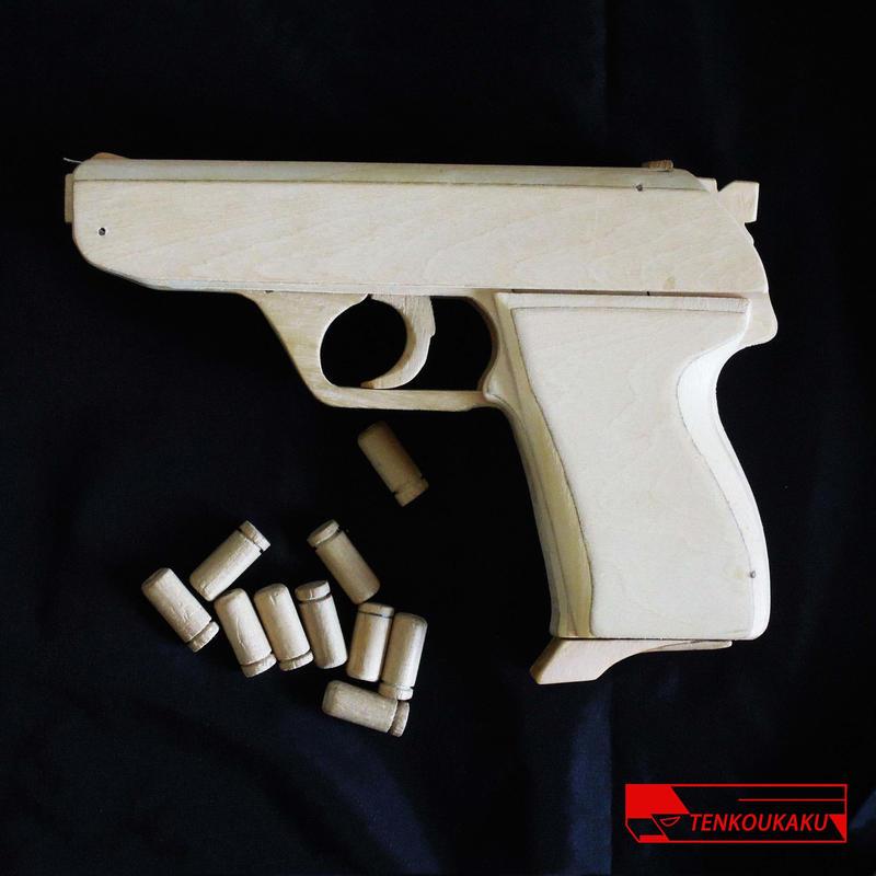 ブローバックする輪ゴム銃(排莢機能付)製作解説書・HK4タイプ