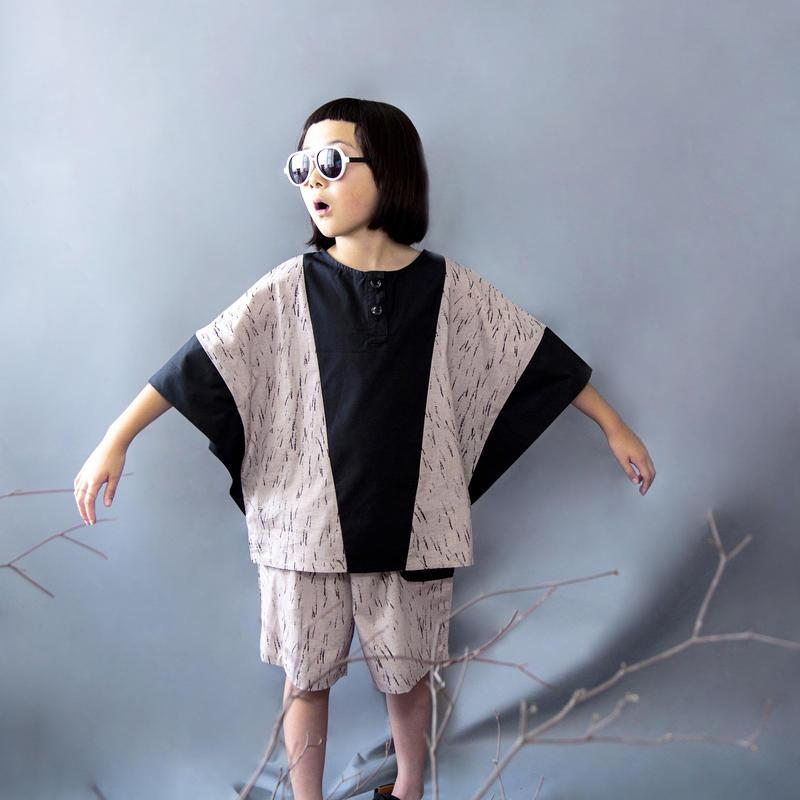 michirico[ミチリコ] / Switching shirt (kids  XL 130-140)