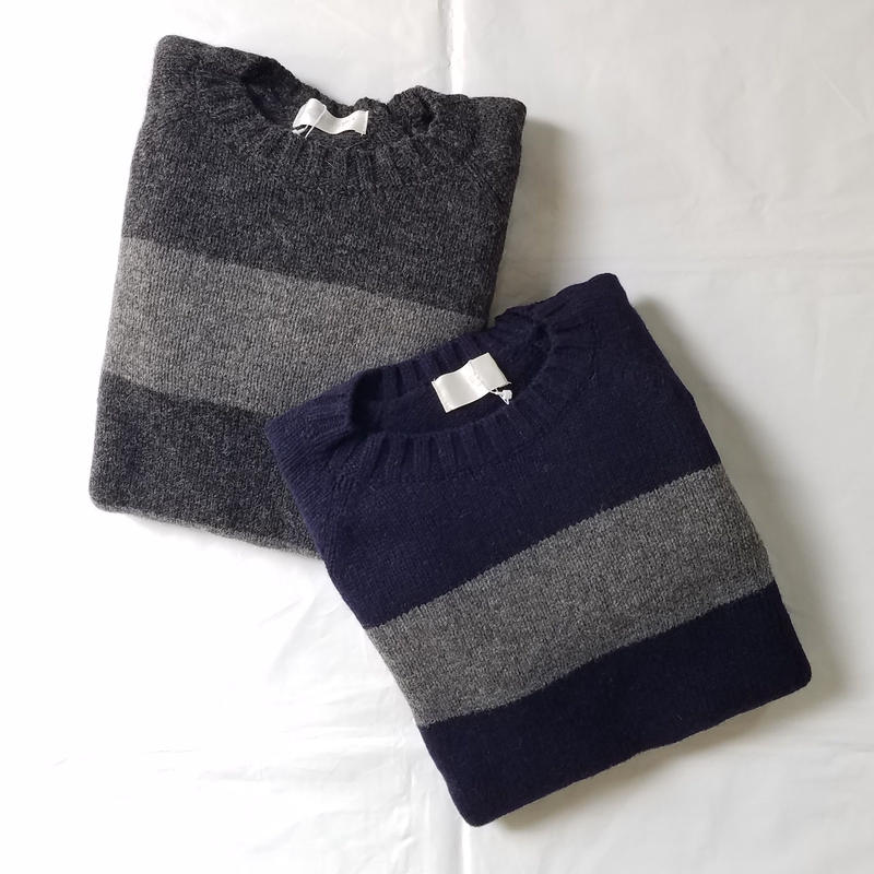 soglia[ソリア] / LANDNOAH SWEATER  BORDER