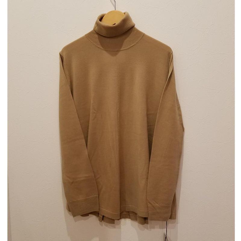 utilite[ユティリテ]/タートルネックニット(beige)