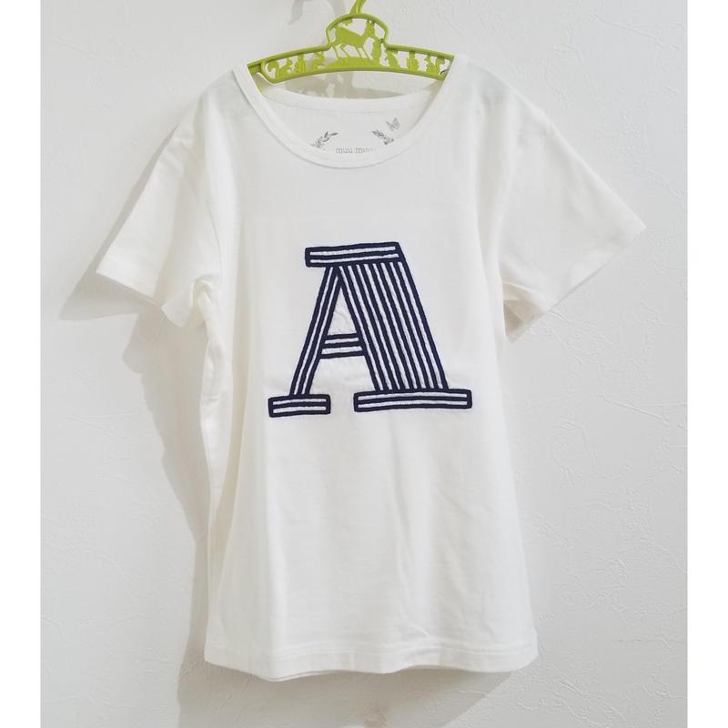 muu muu[ムームー]/刺繍 short sleeve T