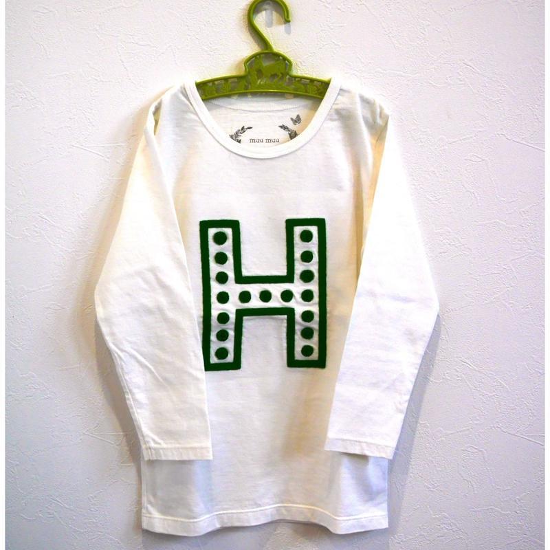 muu muu[ムームー]/刺繍 long sleeve T