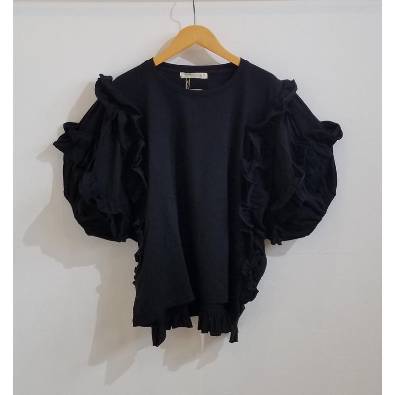 UJU[ウジュ] / フリルバタフライソフトTシャツ(ladies)