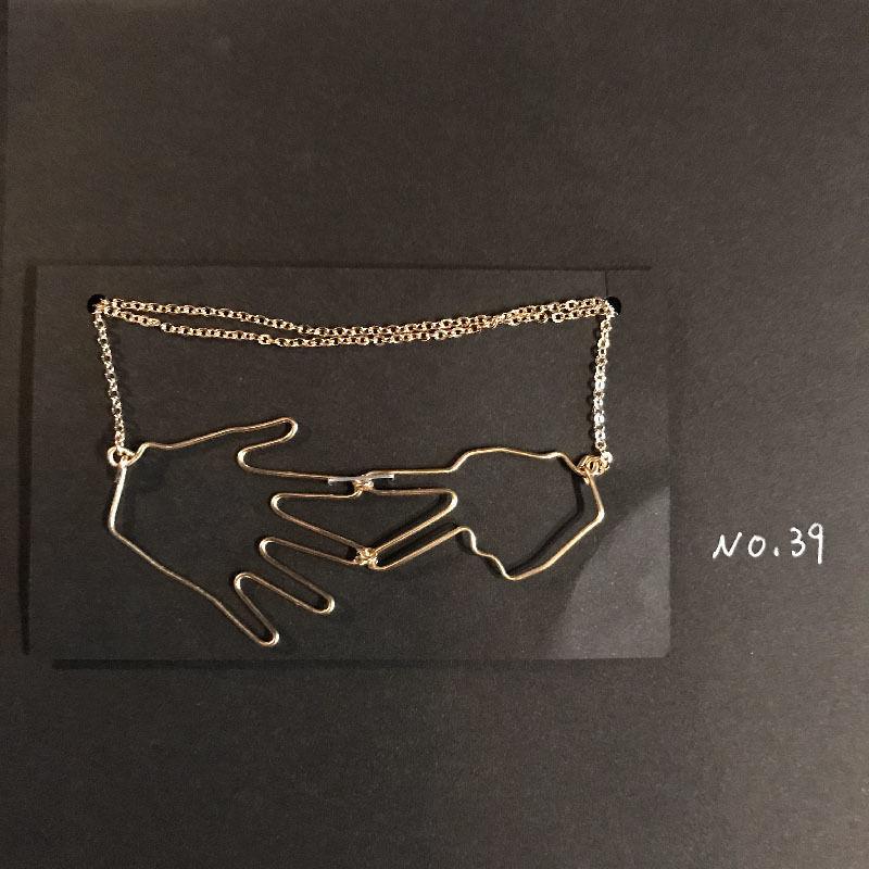 iki 針金アクセサリー ネックレス(じゃんけん)