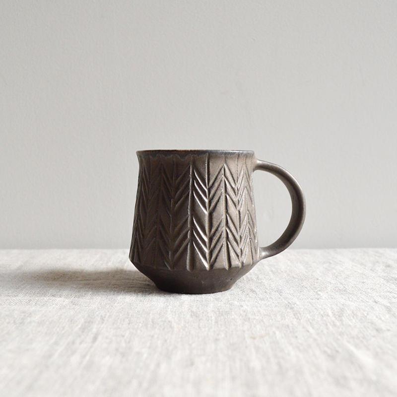 タナカマナブ  マグカップ 鉄釉