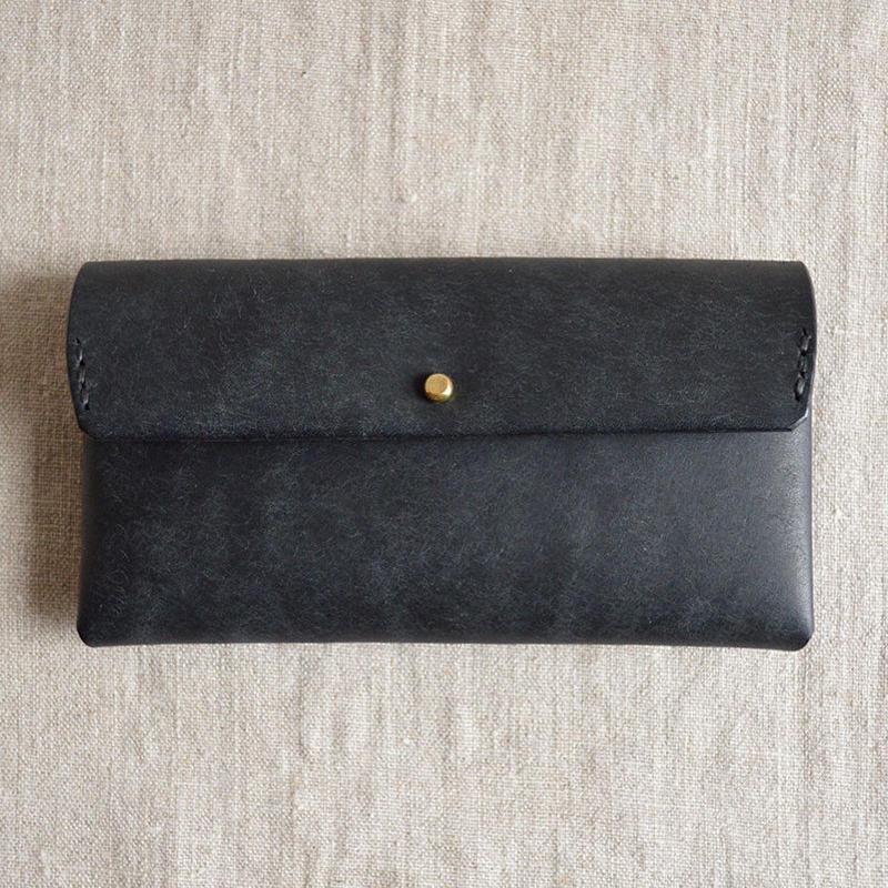 safuji ミニ長財布(ホック) black