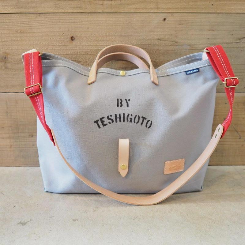 帆布LIFE Bag(グレー×レッド)