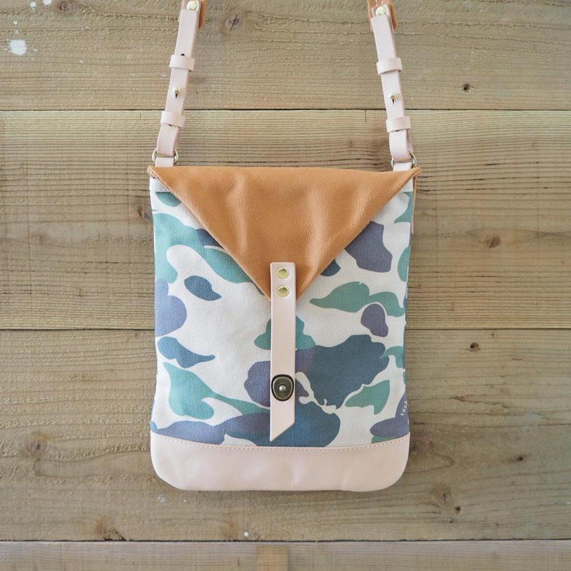 帆布Book Bag(カモフラ×キャメル)