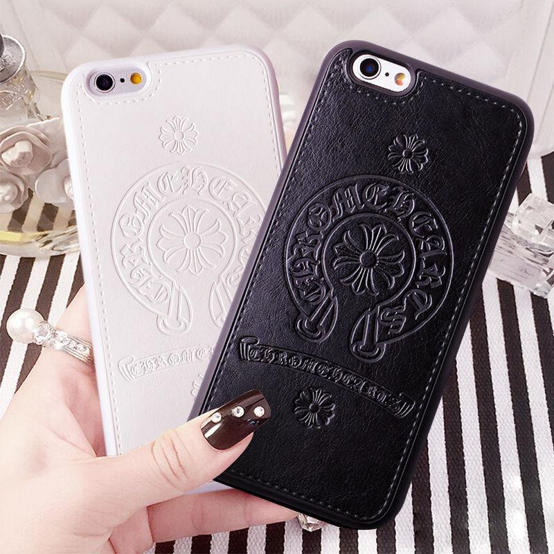 Iphone 7/8 plus スマホケース 人気のホースシューエンブレム タイプクロムハーツ【ブラック・ホワイト・ピンク】 5.5インチ