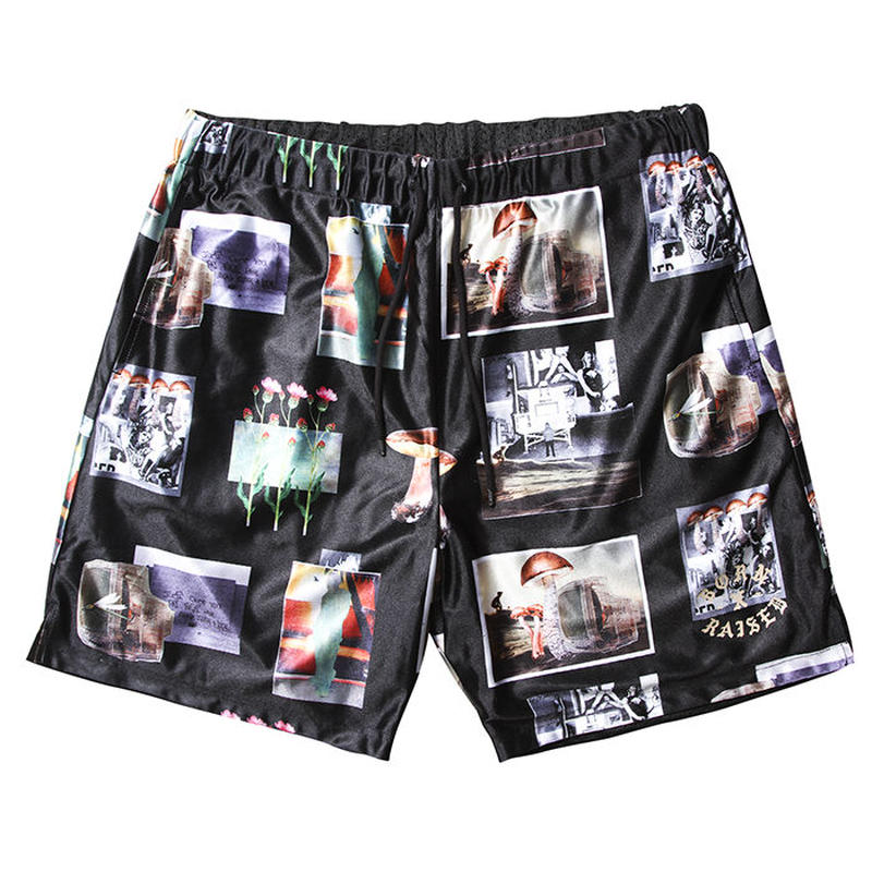 BORN X RAISED / AFTER SCHOOL SPECIAL  BASKETBALL SHORTS(BLACK)