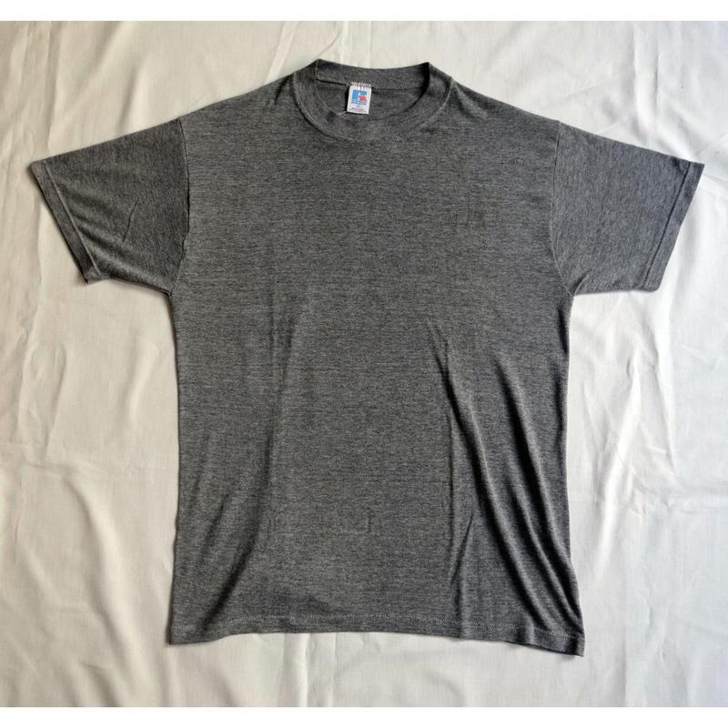USED (古着)RUSSEL無地 Tシャツ(霜降りグレー)