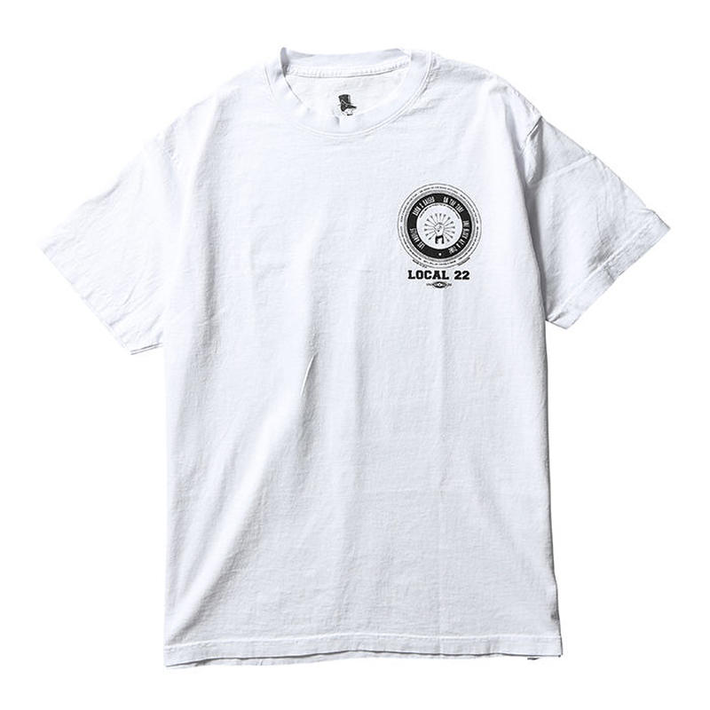 BORN X RAISED / LOCAL 22 TEE   (WHITE)