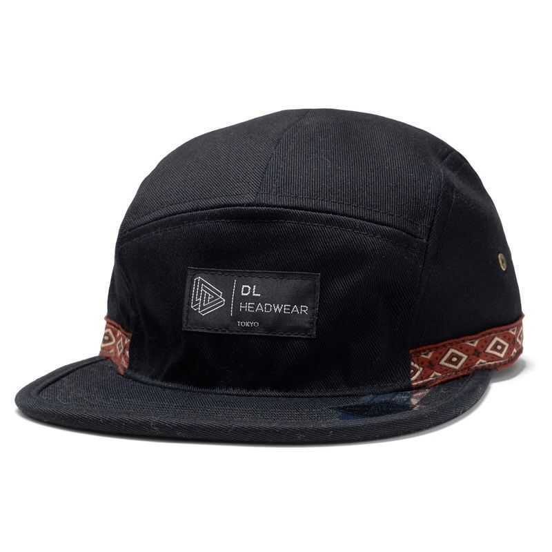 DL HEADWEAR | Omega 5Panel Camp Cap (outdoor black)