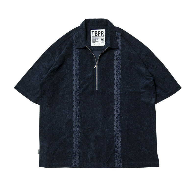 Tightbooth / ENCORE HALF ZIP SHIRT (NAVY)