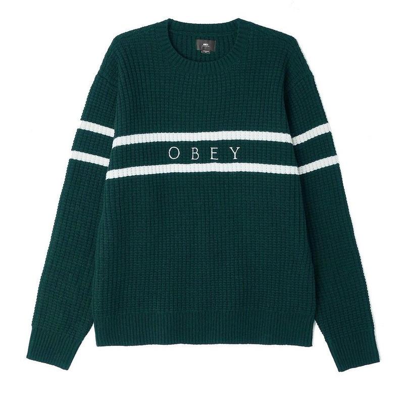 OBEY   Roebling Sweater (DARK GREEN)