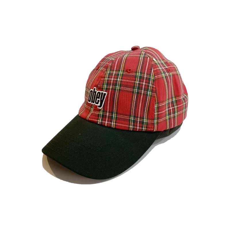 OBEY | DAYTON 6 PANEL HAT (RED MULTI)